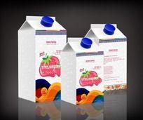 草莓汁饮品包装