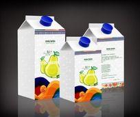 梨汁饮品包装 PSD