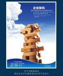 企业文化展板海报之企业架构