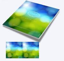 闪烁光点背景传媒画册封面设计
