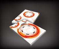 橙色圆环科技封面