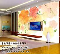 梦幻花朵背景墙装饰画