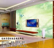 时尚梦幻电视背景墙装饰画
