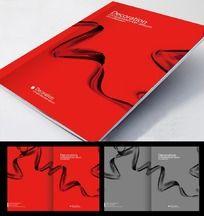 红色飘带画册封面