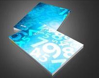 蓝色渐变数字背景封面设计