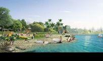 儿童游乐沙滩景观效果图