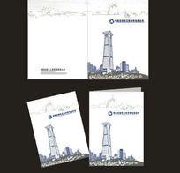 建设工程管理公司画册封面(
