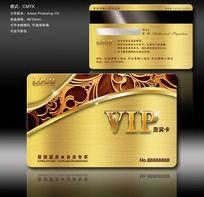 欧式浮雕花纹VIP会员卡