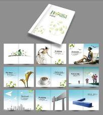 简洁地产项目画册设计CDR分层