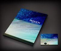 蓝色创意个性画册封面设计