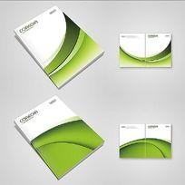 绿色动感画册封面设计PSD源文件