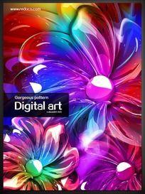 绚丽花朵艺术海报