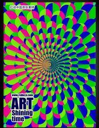 放射花瓣艺术海报