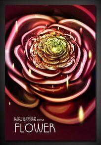 绽放花朵首饰宣传海报