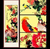 富贵牡丹花鸟图
