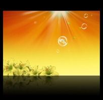 放射光线橙色背景图