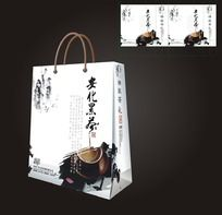 中国风水墨茶叶手提袋设计