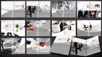 灰色企业形象画册板式