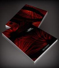 红色图案黑色背景封面