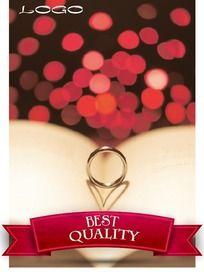 浪漫结婚戒指海报