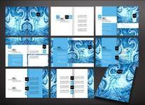 蓝色浮雕图案画册