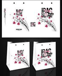 花朵图案手提袋设计