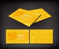黄色心形图案名片