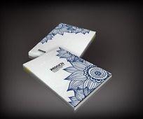 蓝色蜡染图案书籍封面