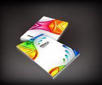 绚丽色彩印刷厂画册封面