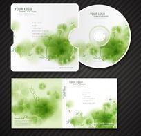 清新绿色CD光盘封面设计