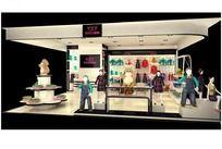 童装店装修模型3D效果图