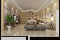 简约客厅装修设计3D效果图