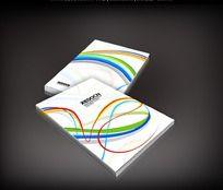 彩色线条时尚画册封面