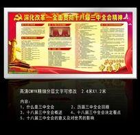 9款 学习贯彻党的十八届三中全会精神宣传栏设计