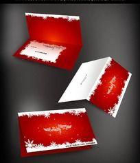 雪花图案圣诞贺卡