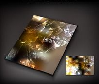 破碎玻璃图案画册封面
