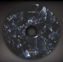 碎玻璃图案光盘