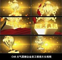 金色大气企业员工颁奖视频AE颁奖模板