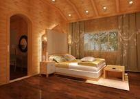 温馨木屋复古3D模型