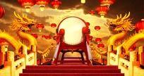 春节震撼金龙鼓,马年龙鼓视频