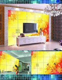 秋天枫叶背景墙墙纸