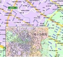 成都市矢量地图 AI
