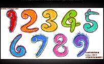 彩色数字创意插画 PSD