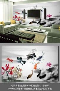 中国风电视背景墙壁纸设计