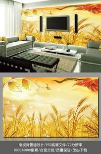 秋天背景客厅电视背景墙墙纸
