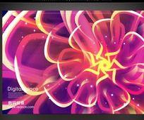 绚丽数码花纹海报