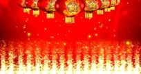 新年春节灯笼字幕背景视频