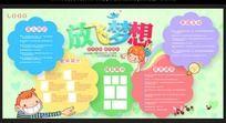 放飞梦想幼儿园宣传栏设计
