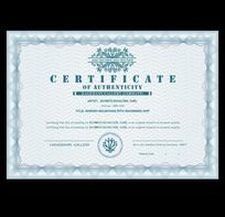 欧式花纹证书设计
