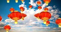 天空中的大红灯笼视频 mov